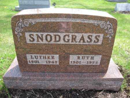 SNODGRASS, LUTHER - Union County, Ohio | LUTHER SNODGRASS - Ohio Gravestone Photos