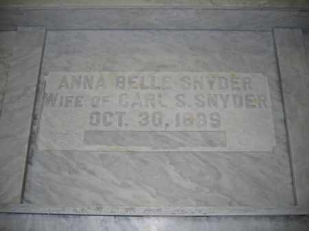 SNYDER, ANNA BELLE - Union County, Ohio | ANNA BELLE SNYDER - Ohio Gravestone Photos