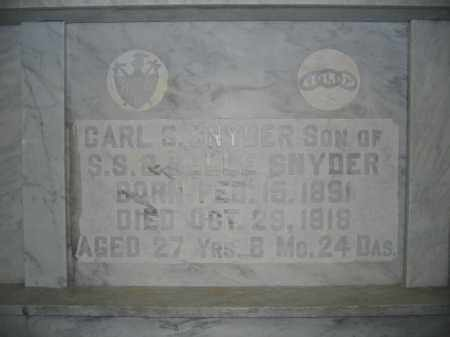 SNYDER, CARL S. - Union County, Ohio | CARL S. SNYDER - Ohio Gravestone Photos