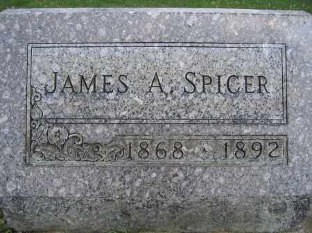 SPICER, JAMES A - Union County, Ohio   JAMES A SPICER - Ohio Gravestone Photos