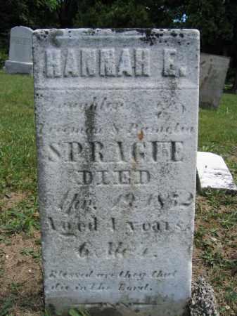 SPRAGUE, HANNAH E. - Union County, Ohio | HANNAH E. SPRAGUE - Ohio Gravestone Photos