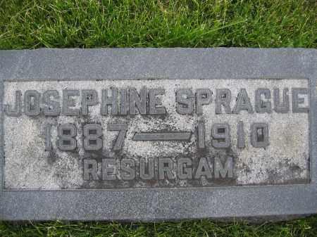 SPRAGUE, JOSEPHINE - Union County, Ohio | JOSEPHINE SPRAGUE - Ohio Gravestone Photos