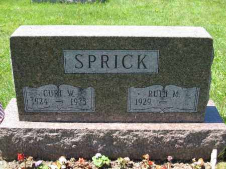 SPRICK, CURT W. - Union County, Ohio | CURT W. SPRICK - Ohio Gravestone Photos