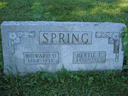 SPRING, BERTIE E. - Union County, Ohio | BERTIE E. SPRING - Ohio Gravestone Photos