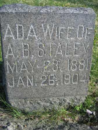 STALEY, ADA - Union County, Ohio | ADA STALEY - Ohio Gravestone Photos
