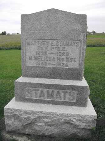 STAMATS, MATTHEW E. - Union County, Ohio | MATTHEW E. STAMATS - Ohio Gravestone Photos