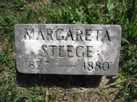 STEEGE, MARGARETA - Union County, Ohio | MARGARETA STEEGE - Ohio Gravestone Photos