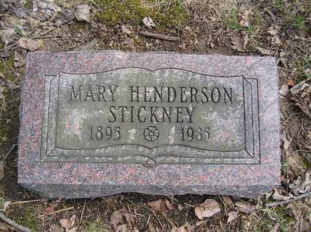 STICKNEY, MARY HENDERSON - Union County, Ohio | MARY HENDERSON STICKNEY - Ohio Gravestone Photos