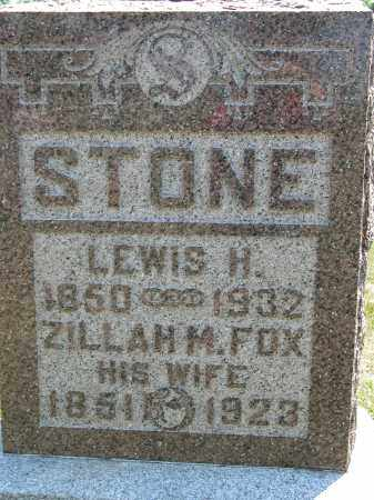 FOX STONE, ZILLAH M. - Union County, Ohio | ZILLAH M. FOX STONE - Ohio Gravestone Photos