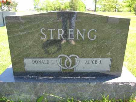 STRENG, ALICE J. - Union County, Ohio | ALICE J. STRENG - Ohio Gravestone Photos