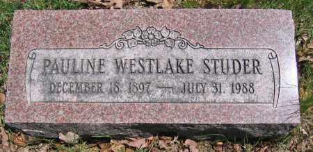 STUDER, PAULINE WESTLAKE - Union County, Ohio | PAULINE WESTLAKE STUDER - Ohio Gravestone Photos
