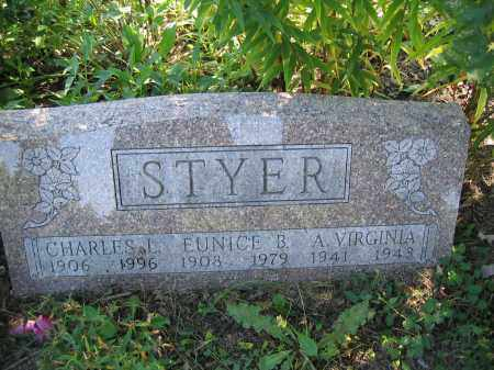 STYER, A. VIRGINIA - Union County, Ohio | A. VIRGINIA STYER - Ohio Gravestone Photos
