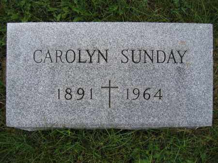 SUNDAY, CAROLYN - Union County, Ohio | CAROLYN SUNDAY - Ohio Gravestone Photos