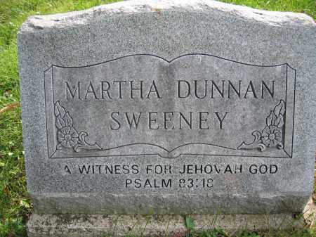 SWEENEY, MARTHA DUNNAN - Union County, Ohio | MARTHA DUNNAN SWEENEY - Ohio Gravestone Photos