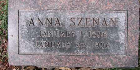 SZENAN, ANNA - Union County, Ohio | ANNA SZENAN - Ohio Gravestone Photos