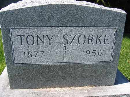 SZORKE, TONY - Union County, Ohio | TONY SZORKE - Ohio Gravestone Photos