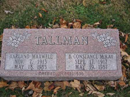 TALLMAN, B. CONSTANCE MCKAY - Union County, Ohio | B. CONSTANCE MCKAY TALLMAN - Ohio Gravestone Photos