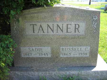 TANNER, SADIE - Union County, Ohio | SADIE TANNER - Ohio Gravestone Photos