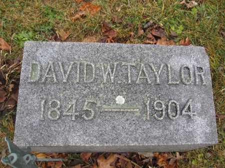 TAYLOR, DAVID W. - Union County, Ohio | DAVID W. TAYLOR - Ohio Gravestone Photos