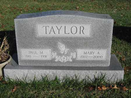 TAYLOR, MARY A. - Union County, Ohio | MARY A. TAYLOR - Ohio Gravestone Photos