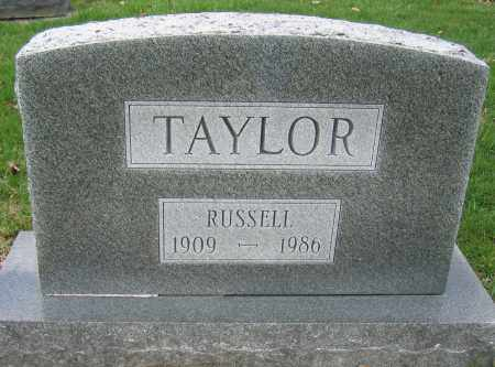 TAYLOR, RUSSELL - Union County, Ohio | RUSSELL TAYLOR - Ohio Gravestone Photos