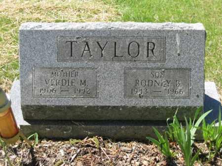 TAYLOR, RODNEY B. - Union County, Ohio | RODNEY B. TAYLOR - Ohio Gravestone Photos