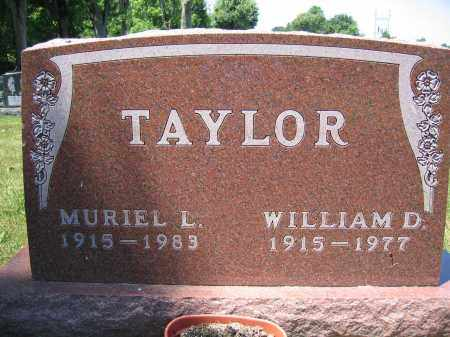 TAYLOR, WILLIAM D. - Union County, Ohio | WILLIAM D. TAYLOR - Ohio Gravestone Photos