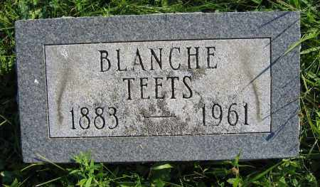 TEETS, BLANCHE - Union County, Ohio | BLANCHE TEETS - Ohio Gravestone Photos