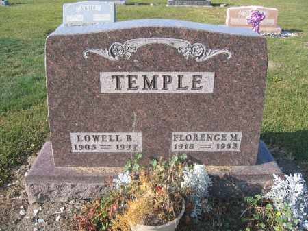 TEMPLE, LOWELL B. - Union County, Ohio | LOWELL B. TEMPLE - Ohio Gravestone Photos