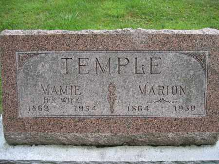 TEMPLE, MARION - Union County, Ohio | MARION TEMPLE - Ohio Gravestone Photos