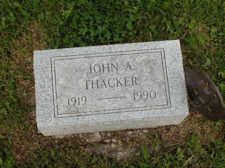 THACKER, JOHN A. - Union County, Ohio | JOHN A. THACKER - Ohio Gravestone Photos