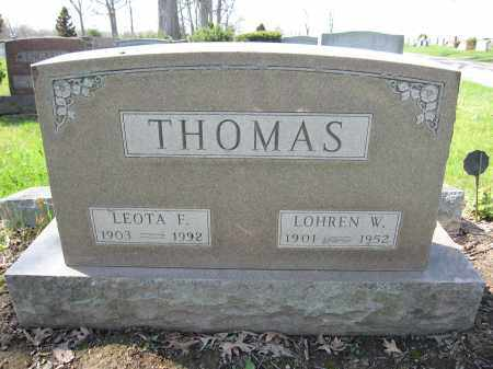 THOMAS, LOHREN W. - Union County, Ohio | LOHREN W. THOMAS - Ohio Gravestone Photos