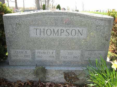 THOMPSON, FRANCES K. - Union County, Ohio | FRANCES K. THOMPSON - Ohio Gravestone Photos