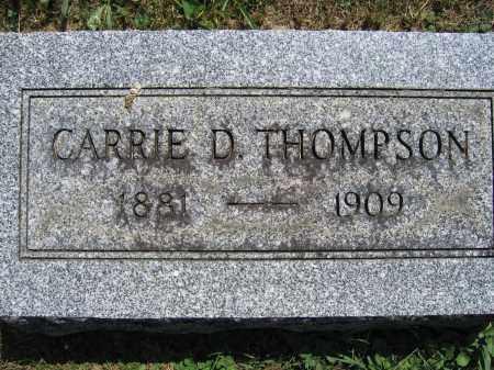 THOMPSON, CARRIE D. - Union County, Ohio | CARRIE D. THOMPSON - Ohio Gravestone Photos