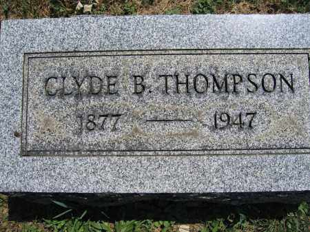 THOMPSON, CLYDE B. - Union County, Ohio | CLYDE B. THOMPSON - Ohio Gravestone Photos