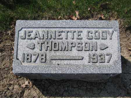 THOMPSON, JEANNETTE CODY - Union County, Ohio | JEANNETTE CODY THOMPSON - Ohio Gravestone Photos
