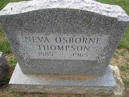 THOMPSON, NEVA OSBORNE - Union County, Ohio | NEVA OSBORNE THOMPSON - Ohio Gravestone Photos