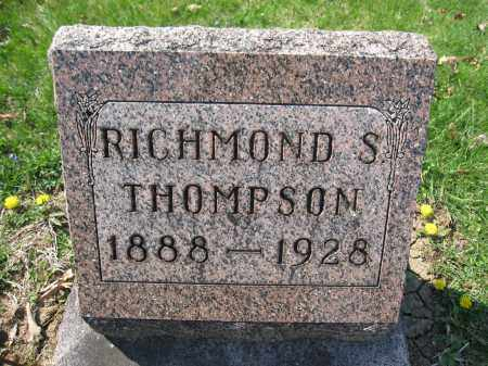 THOMPSON, RICHMOND S. - Union County, Ohio | RICHMOND S. THOMPSON - Ohio Gravestone Photos