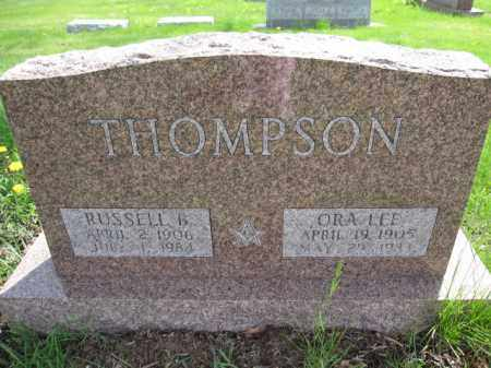 THOMPSON, ORA LEE - Union County, Ohio | ORA LEE THOMPSON - Ohio Gravestone Photos