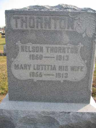 THORNTON, MARY LUTITIA - Union County, Ohio | MARY LUTITIA THORNTON - Ohio Gravestone Photos