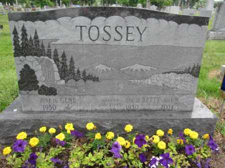TOSSEY, GENE - Union County, Ohio | GENE TOSSEY - Ohio Gravestone Photos