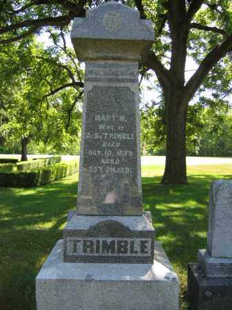 TRIMBLE, MARY M. - Union County, Ohio | MARY M. TRIMBLE - Ohio Gravestone Photos