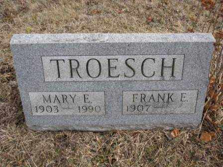 TROESCH, MARY E. - Union County, Ohio | MARY E. TROESCH - Ohio Gravestone Photos