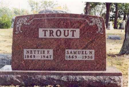 TROUT, NETTIE F - Union County, Ohio | NETTIE F TROUT - Ohio Gravestone Photos