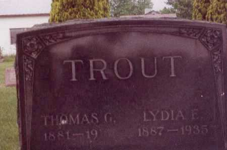 TROUT, LYDIA E - Union County, Ohio | LYDIA E TROUT - Ohio Gravestone Photos