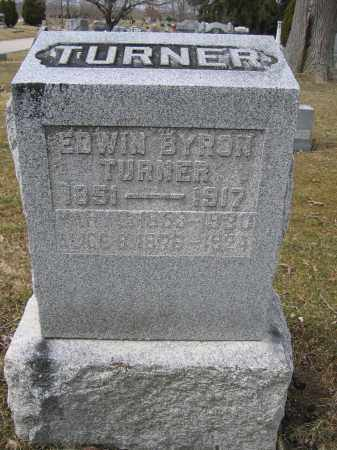 TURNER, EDWIN BYRON - Union County, Ohio | EDWIN BYRON TURNER - Ohio Gravestone Photos