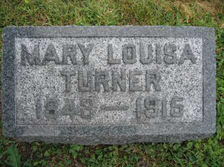 TURNER, MARY LOUISA - Union County, Ohio   MARY LOUISA TURNER - Ohio Gravestone Photos