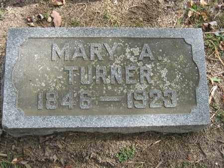 TURNER, MARY A. - Union County, Ohio | MARY A. TURNER - Ohio Gravestone Photos