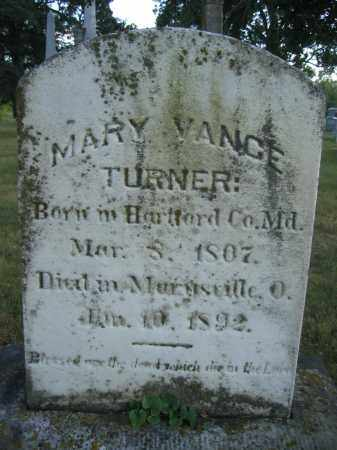 TURNER, MARY VANCE - Union County, Ohio | MARY VANCE TURNER - Ohio Gravestone Photos
