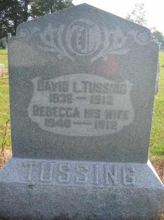 TUSSING, REBECCA - Union County, Ohio | REBECCA TUSSING - Ohio Gravestone Photos